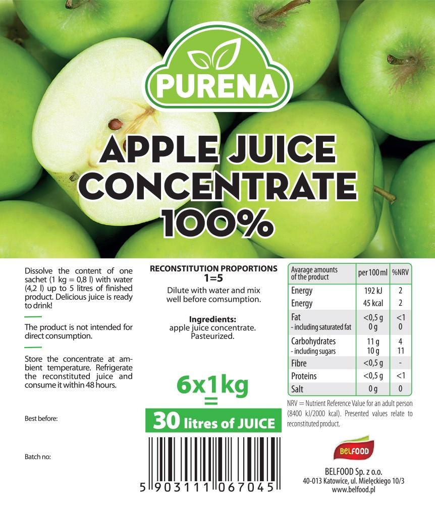 zagęszczony sok jabłkowy 100%