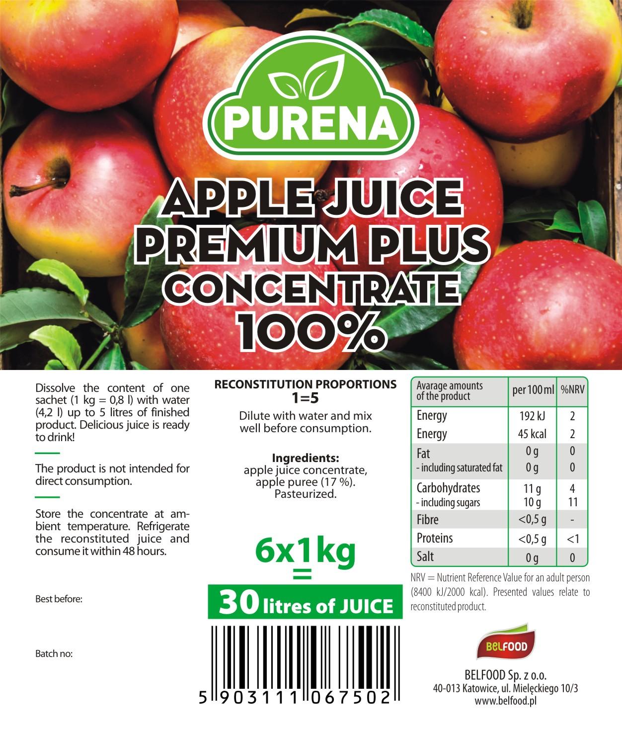 zagęszczony sok jabłkowy 100% PREMIUM