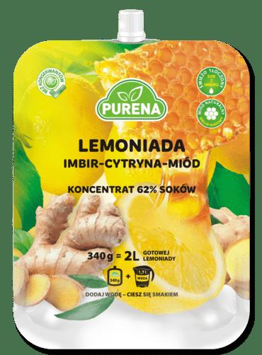 Lemoniada imbir-cytryna-miód Purena