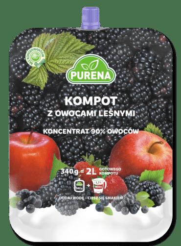 Kompot z owocami leśnymi