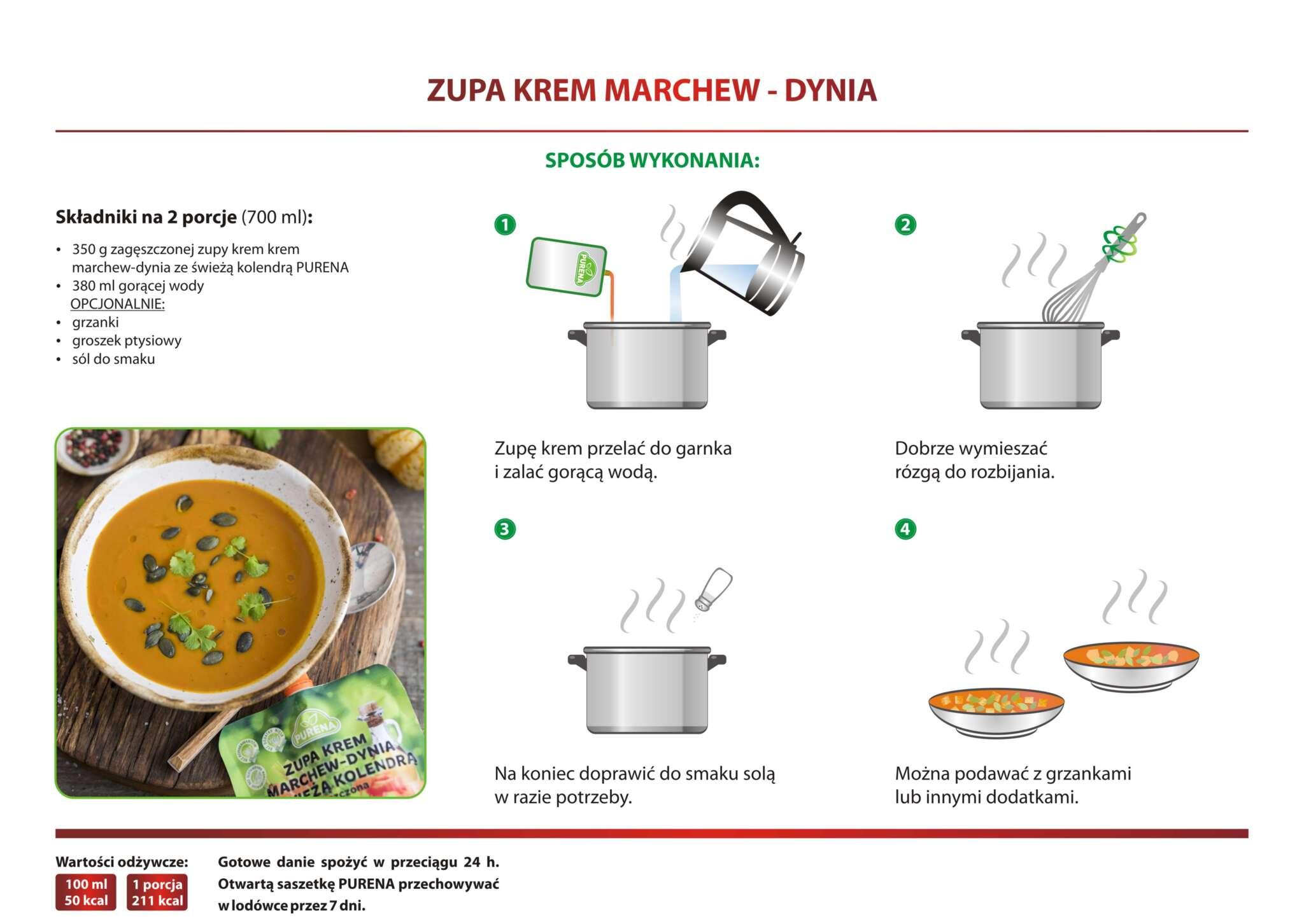 Zupa krem marchew-dynia
