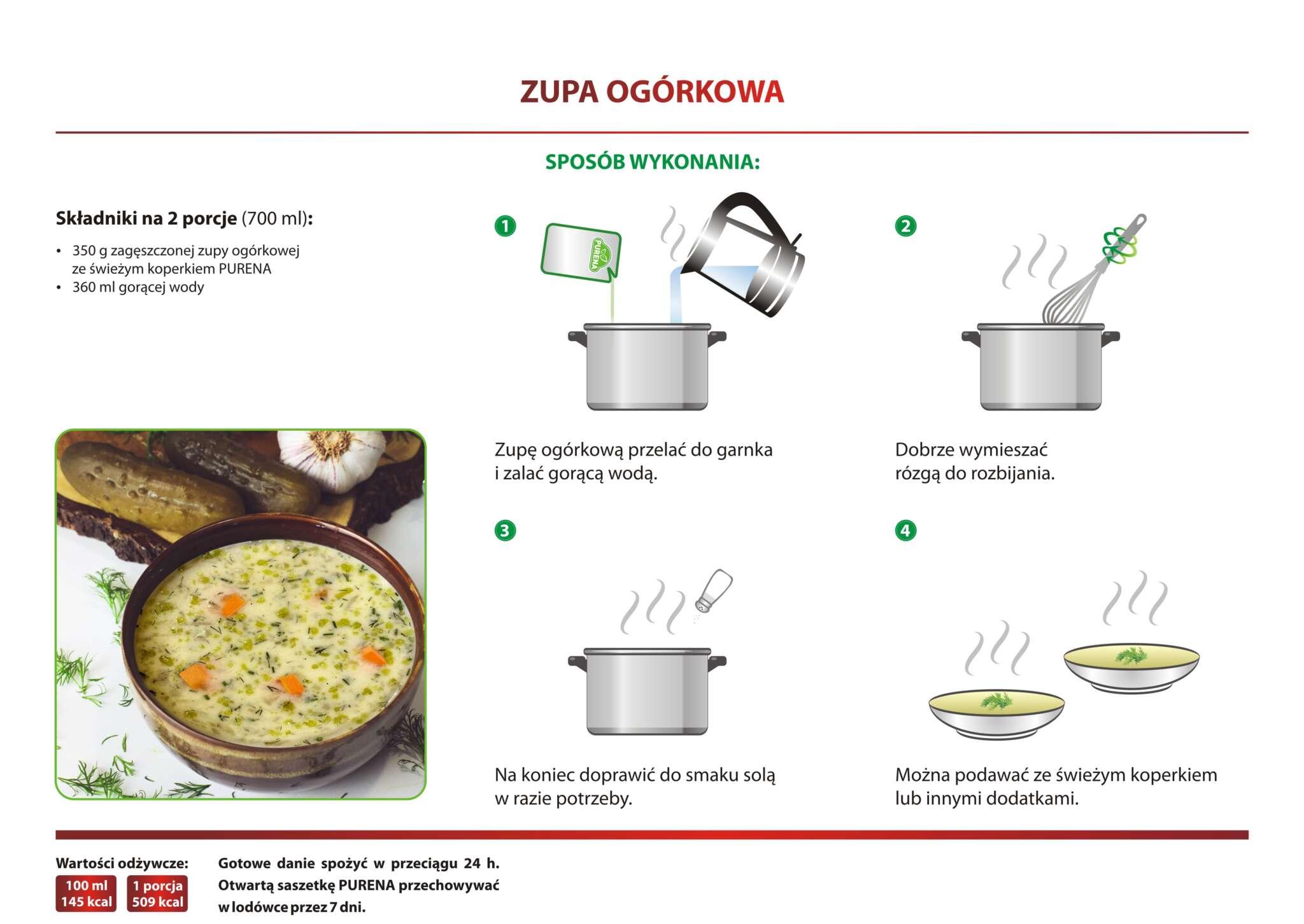 Zupa ogórkowa - przepis